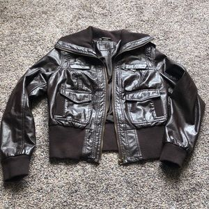 Jackets & Blazers - Juniors brown leather jacket